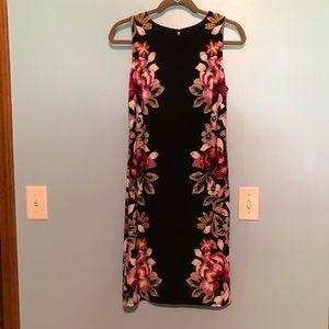 White House Black Market little black floral dress